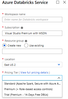 CreateAzureDatabricksService